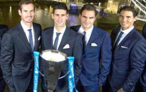 Murray, Djokovic, Federer y Nadal