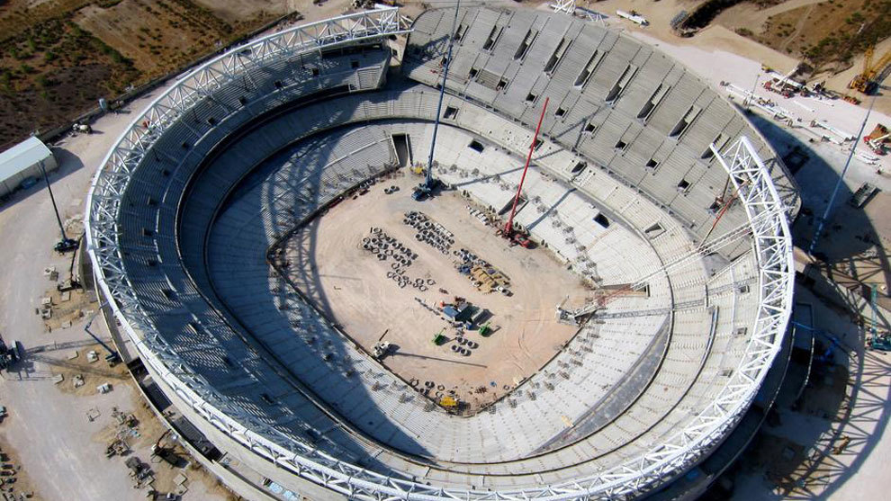 Las obras del nuevo estadio del Atlético