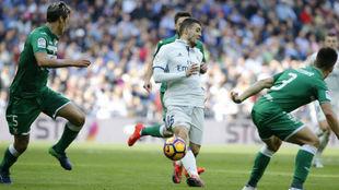 Kovacic recibió un golpe en el tobillo en el partido ante el Leganés