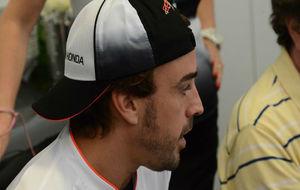 Alonso, en la rueda de prensa de hoy en el circuito de Interlagos.