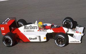 Ayrton Senna con el mejor McLaren de la historia, el de 1988.