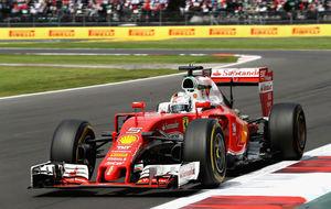 Sebastian Vettel, durante el GP de México.