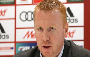 Maik Walpurgis atiende a la prensa como nuevo entrenador del Ingolstad