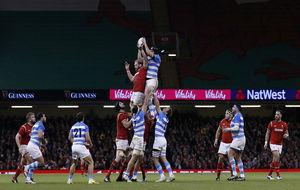 Espectacular imagen del Gales-Argentina de este sábado en Cardiff.