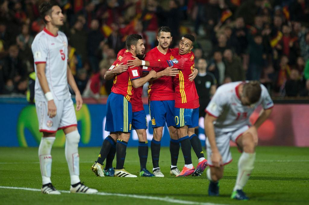 The Macedonian defense was broken in the 2nd half; photo: Marca