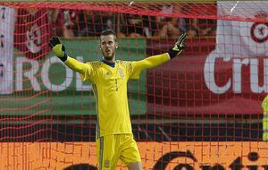 De Gea, en un partido con la selección española.