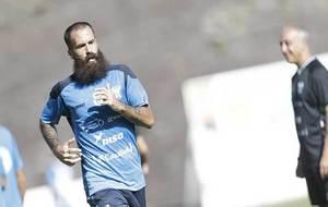 Marc Crosas, durante un entrenamiento del Tenerife