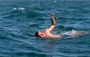Ben Hooper, en el agua.