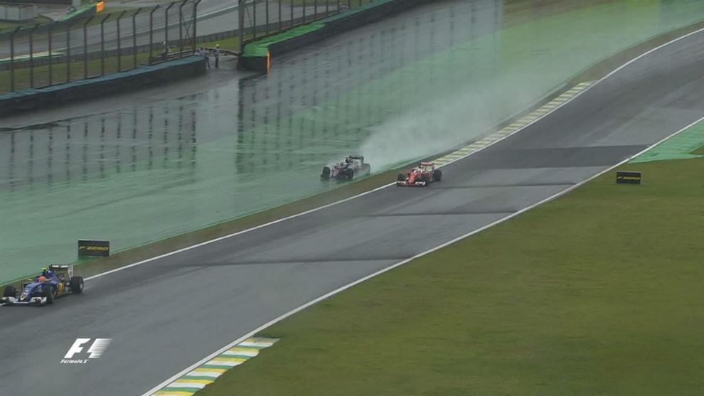 La lucha entre Alonso y Vettel.