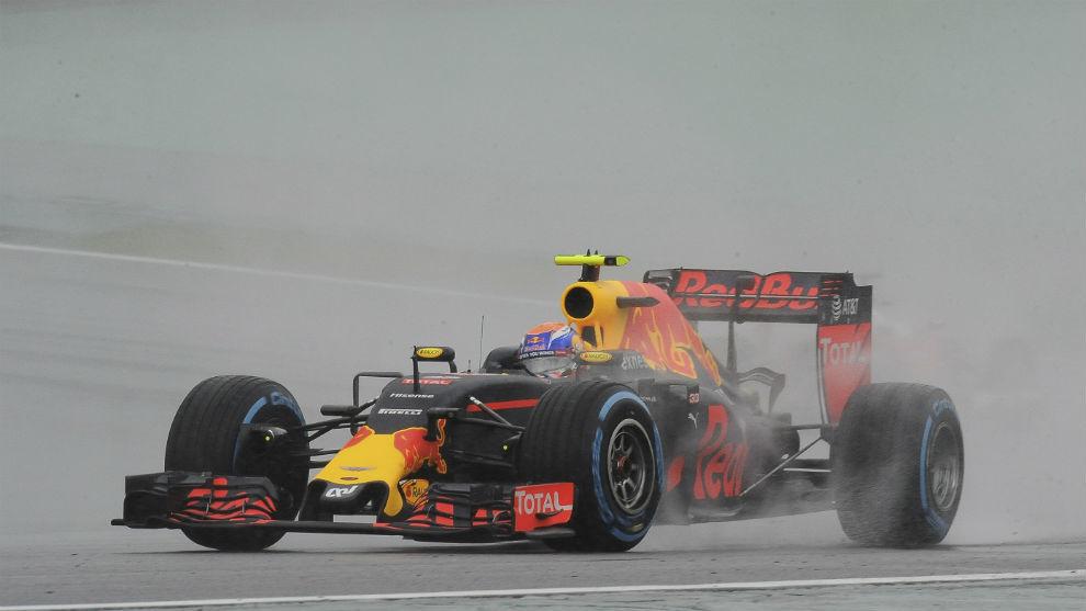Max Verstappen durante la carrera del GP de Brasil