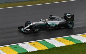 Lewis Hamilton, ganador del GP de Brasil.