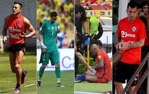 Los chilenos Alexis Sánchez, Claudio Bravo, Arturo Vidal y Gary...