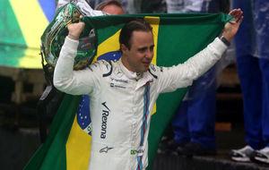 Massa llora tras abandonar el GP de Brasil antes de tiempo.