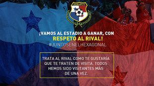 La imagen del twitter de la Federación Panameña de Fútbol.