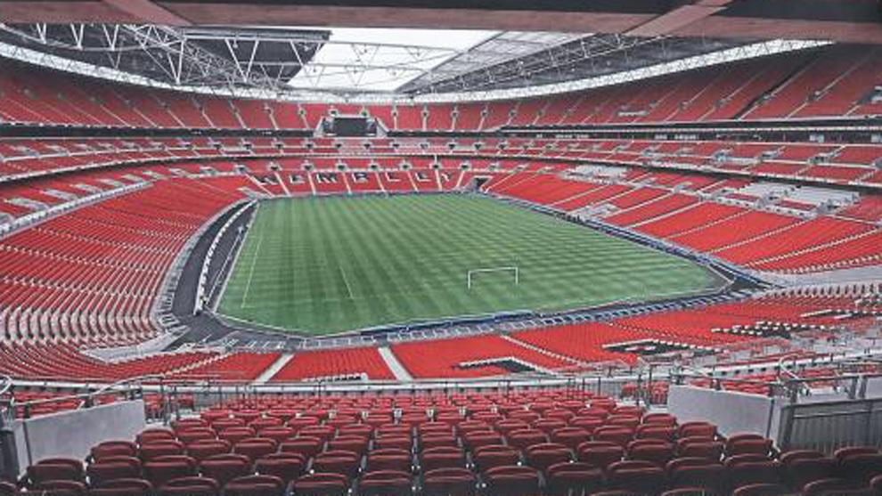 El estadio de Wembley en donde jugará España contra Inglaterra.