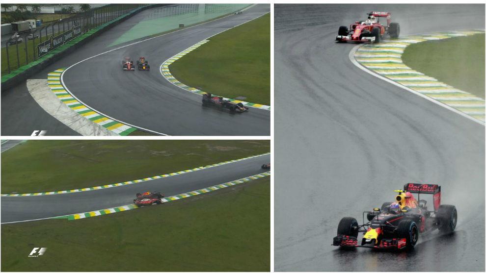 Verstappen adelanta a Vettel con una maniobra al límite de la...
