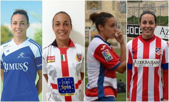 Paula Serrano en sus diferentes equipos: Neunkirch FC, Torres, Granada...
