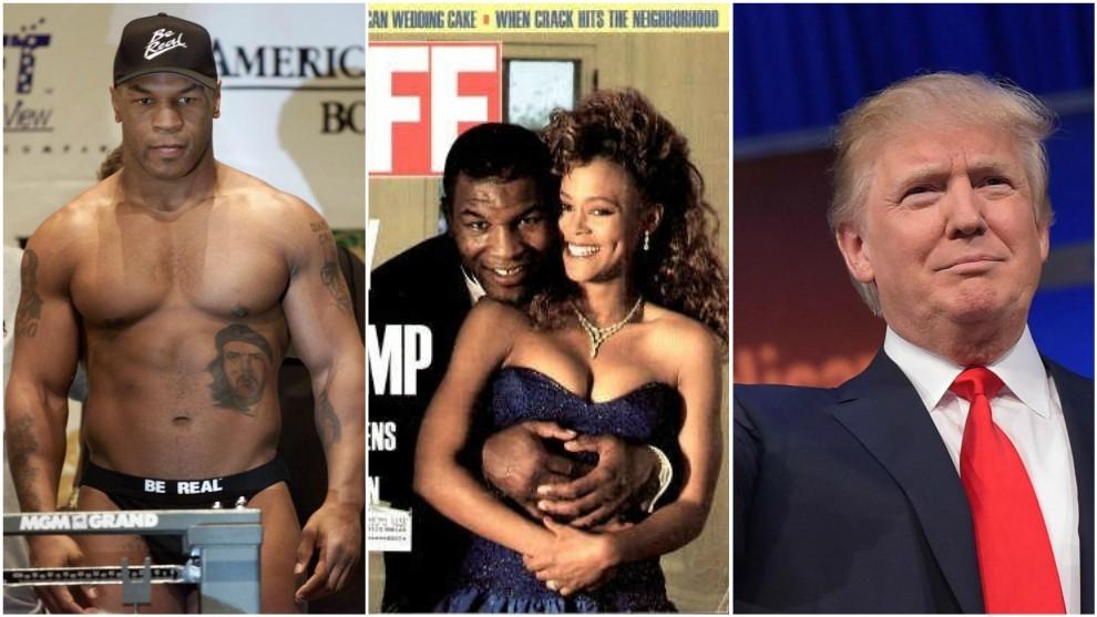 Tyson en 1990, con Robin Givens en una portada de 'Life' y Donald...