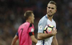 Henderson, en un partido con Inglaterra.