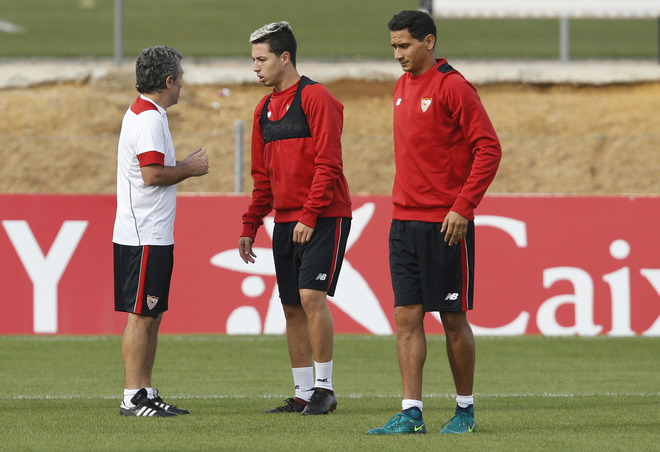 Samir Nasri entrena al margen del grupo en el regreso al trabajo