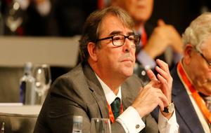 Jorge Pérez durante la Asamblea de la Federación Española de...