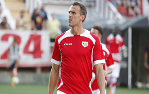 Amaya en un partido con su club, el Rayo Vallecano.