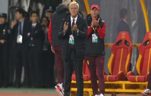 Lippi durante un partido de China.