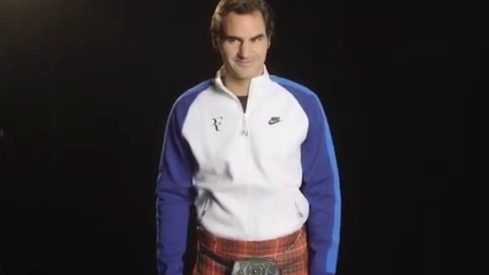 Federer, con falda escocesa