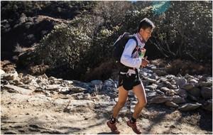 Lama Sherpa, durante la etapa.