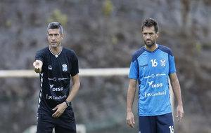 Martí y Aitor Sanz, durante un entrenamiento de esta semana.