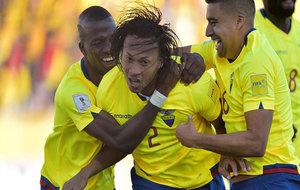 Mina celebra su gol a Venezuela.