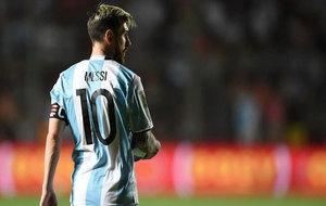 Messi, durante el Argentina-Colombia.