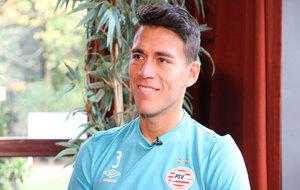 Héctor Moreno, durante la entrevista con MARCA Claro.