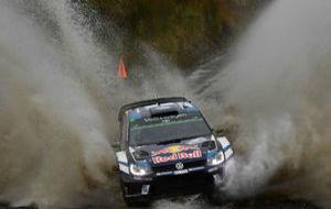 Sébastien Ogier durante el Rally de Gran Bretaña.