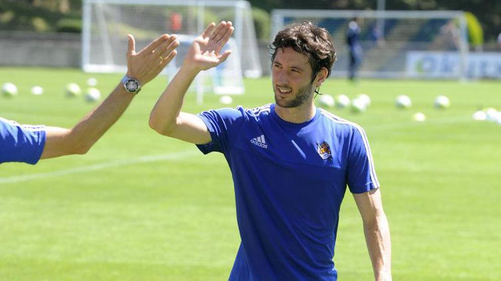 Esteban Granero, listo para volver a jugar con la Real Sociedad.