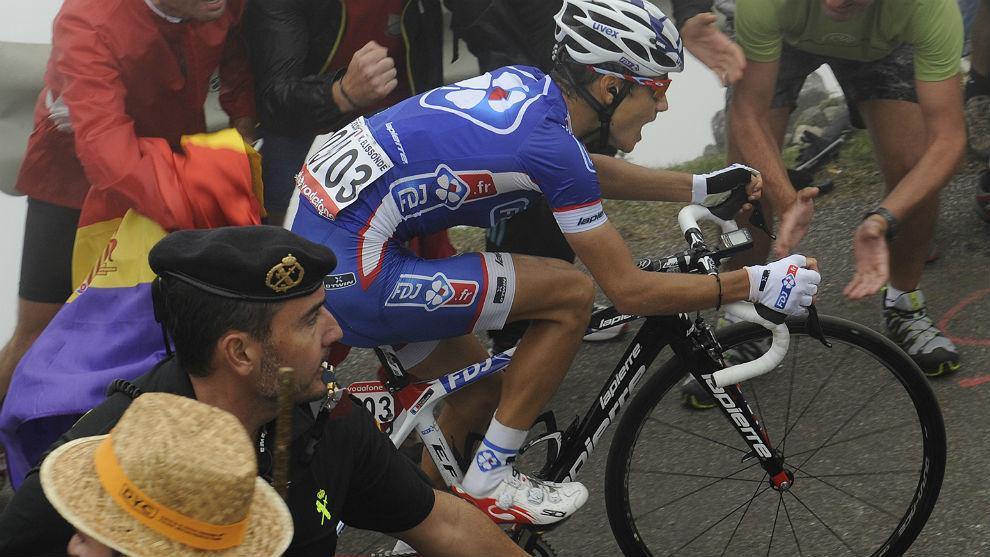 Kenny Elissonde, ganó en el Angliru la etapa 20 de la Vuelta 2013.