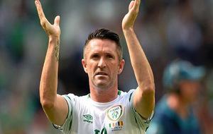 Robbie Keane durante un partido de Irlanda