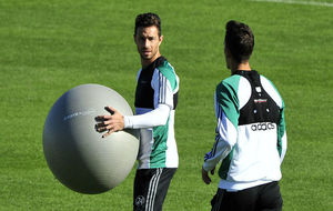 Rubén Castro, en un entrenamiento.