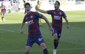 Gonzalo Melero celebrando un gol esta temporada.