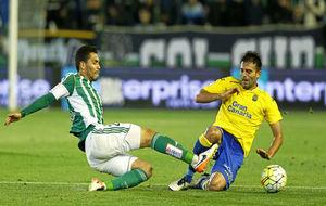 Una jugada del Betis-Las Palmas de la pasada temporada.