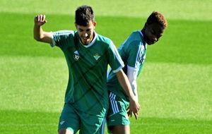 Ceballos y Musonda, en un entrenamiento del Betis.