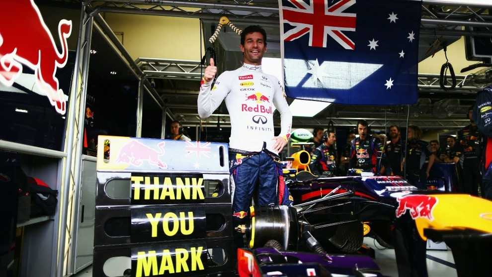 Webber, con Red Bull.