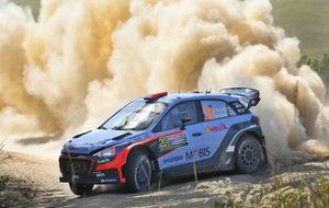 Dani Sordo, durante el Rally de Australia.