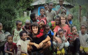 Nacho y Santi, durante su viaje a Etiopía.