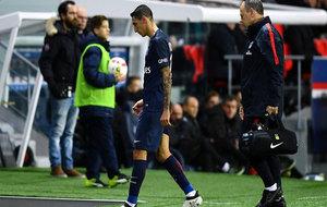 Di María se retira lesionado ante el Nantes.