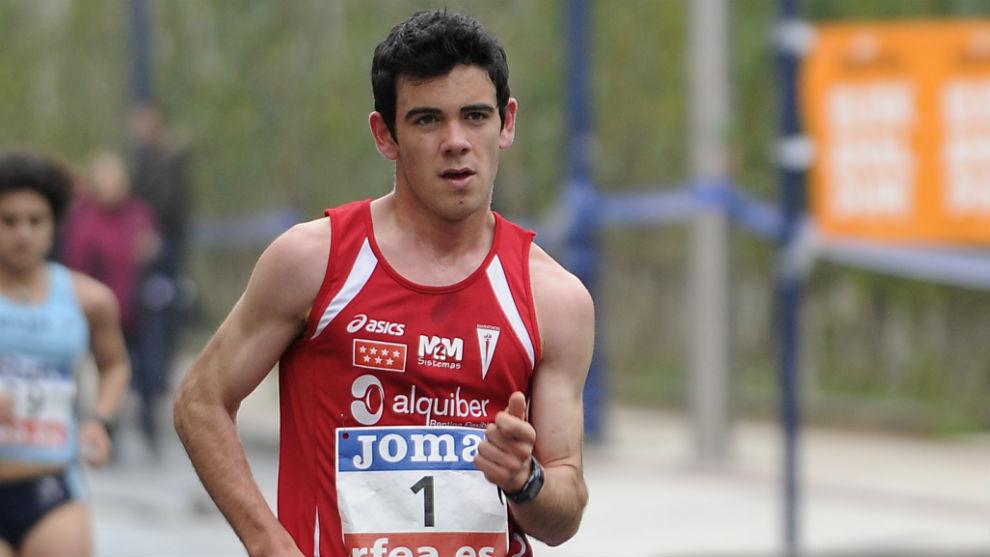 Diego García, en una carrera.