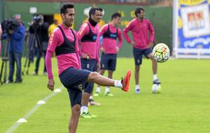 Ángel Montoro, durante un entrenamiento.