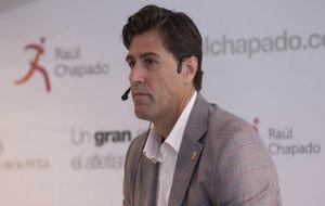 Raúl Chapado, durante la presentación de su candidatura a la...
