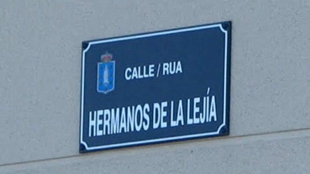 La calle de Los Hermanos de la Lejía,en La Coruña.