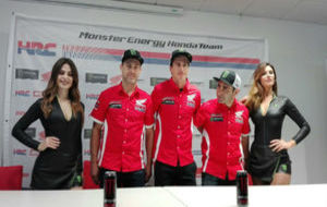 Presentación del equipo Honda.